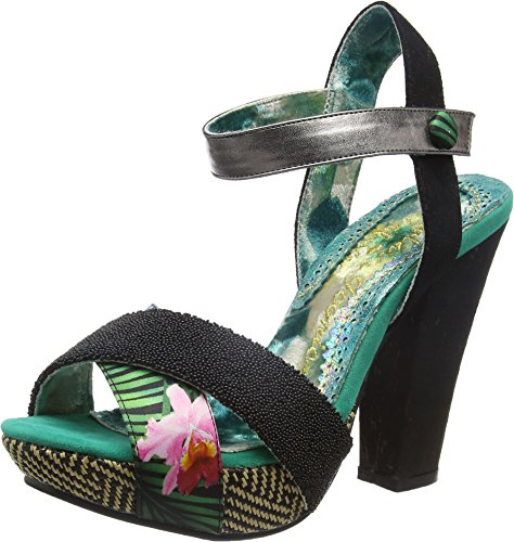 Irregular Choice Shoop, Sandalias para Mujer Negro (Black)