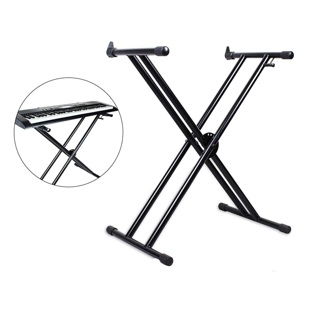 Synthesizers & Workstations Keyboard Stand Piano Stand Keyboard Stand and Bench Set X Type Home Guzheng Keyboard Stand Apply 49-88 Button (Color : Black, Size : High 100cm) by Synthesizers & Workstations