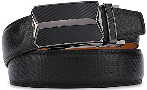 Belt for Men,Bulliant Men's Automatic Ratchet Belt Of Genuine Leather,Trim to Fit