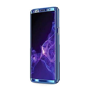 Funda Samsung Galaxy S8 Carcasa Protección Plástico Duro Cover +Suave Película Anti-Rasguños Chapado 3 en 1 Teléfono Caso para Samsung S8 Plus