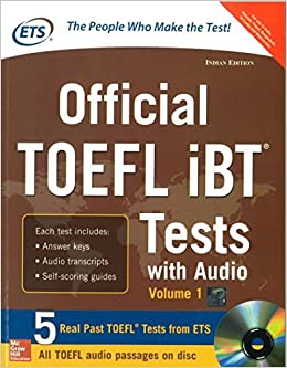 Official TOEFL iBT Tests with Audio, Volume - 1 (With CD) 2nd  Edition price comparison at Flipkart, Amazon, Crossword, Uread, Bookadda, Landmark, Homeshop18