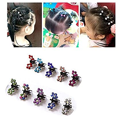Yikimira 20/ pz fermagli capelli Bangs mini Small Hair Claw clip Hair pin Flower Accessories for Women Girls Little Girl