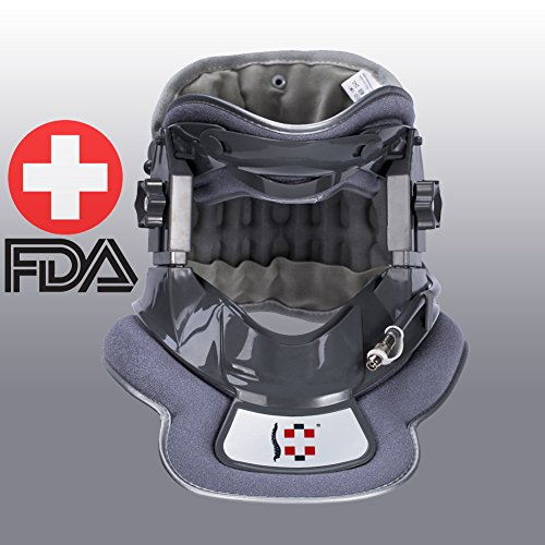 Neck Collar   Brace - Cervical Neck Traction Device - Neck & Shoulder Pain Relief - Stretcher Cervical Collar for Home Used Improved Spine Alignment by Jimugor