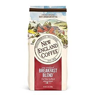 New England Coffee New England Breakfast Blend, Medium Roast Ground Coffee, 12 Ounce (1 Count) Bag