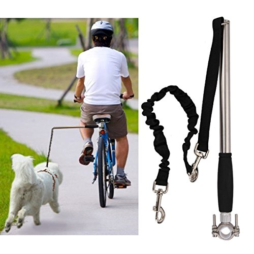 Dog Exerciser - Dog Bicycle Exerciser Leash, FMJI Hands Free Bicycle dog Leash for Exercising/Training/ Jogging/ Cycling/ Outdoor (A)