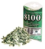 Genuine Shredded $100 in U. S. Currency