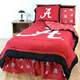 NCAA Alabama Tide Bed in a Bag with Team Colored Sheets, Twin (86'' x 66'' x 2''), Crimson