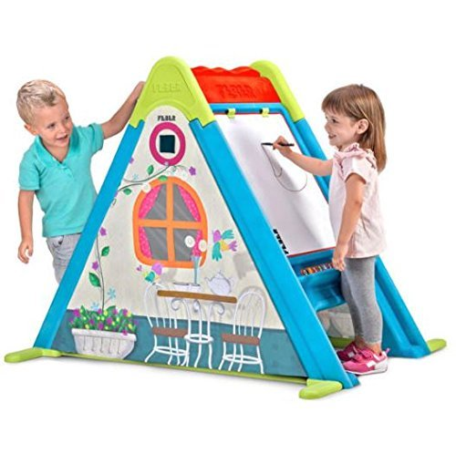 51sOdqyi%2BbL - Feber Play & Fold Activity House 3in1 – Playset - Easy to Store – Indoor and Outdoor – for Kids from 2 Years Old