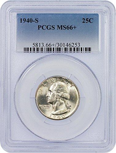 1940 S Washington Quarter Quarter MS 66+ PCGS