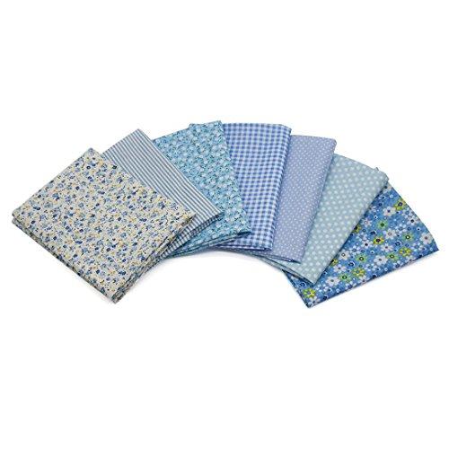 Sinwo 7PCS 50 cm X40 cm DIY Cotton Patchwork Quilt Series Fabric Floral Charms Quarters Bundle Sewing Accessories - Diy Hippy Costume