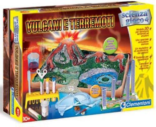 Clementoni - Juego educativo sobre volcanes y terremotos: Amazon.es: Juguetes y juegos