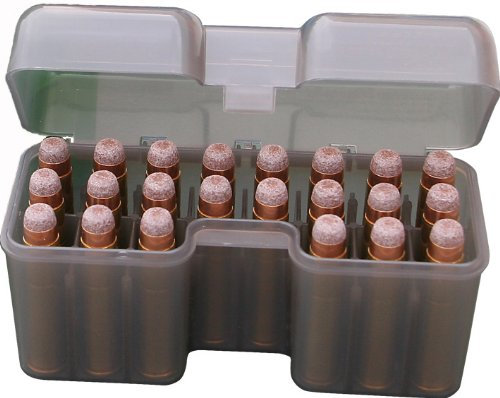 MTM 22 Round Flip-Top Rifle Ammo Box 270 WSM to 300 WSM, 45-70 (Clear Smoke)