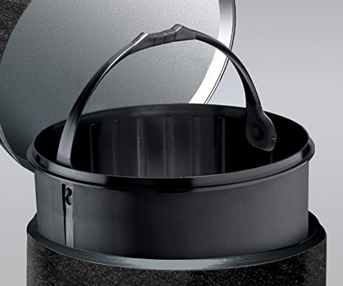 Meliconi 14014943806/Cubo Chapa Pizarra con Cubo Metal 25.1/x 25.1/x 39.6/cm Negro