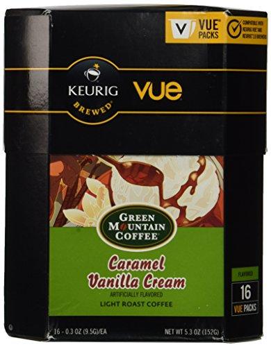 32 Count - Green Mountain Caramel Vanilla Cream Vue Cup For Keurig Vue Brewers