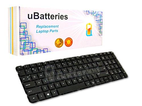 UBatteries Compatible Laptop Keyboard Replacement for HP Pavilion G6 G6-2000 699497-001 700271-001 697452-001 673613-001 2B-04801Q121 R36 681800-001 LKB-HC34B - Black (No Frame, Small Enter Key) ()