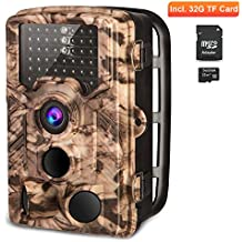 """AIMTOM Trail Hunting Camera 16MP Image 1080P Video 46Pcs IR LEDs Infrared 0.2S Trigger Time Waterproof Night Vision 120° Wide Angle 2.4"""" LCD Screen Scouting Ghost Game Stealth Wildlife Trap Cam"""
