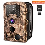 AIMTOM Trail Hunting Camera 16MP Image 1080P Video 46Pcs IR LEDs Infrared 0.2S Trigger Time Waterproof Night Vision 120° Wide Angle 2.4'' LCD Screen Scouting Ghost Game Stealth Wildlife Trap Cam
