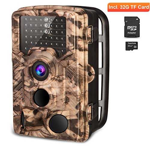 AIMTOM Trail Hunting Camera 16MP Image 1080P Video 46Pcs IR LEDs Infrared 0.2S Trigger Time Waterproof Night Vision 120° Wide Angle 2.4