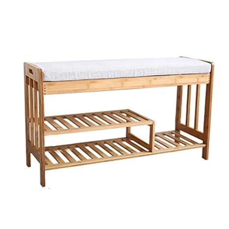 Amazon.com: Womio - Zapatero de bambú simple y moderno, 35.4 ...