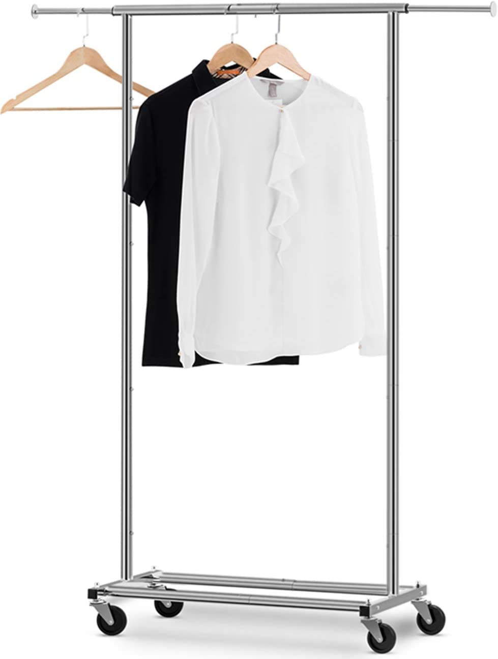 Heavy Duty Commercial Grade Clothes Rolling Rack