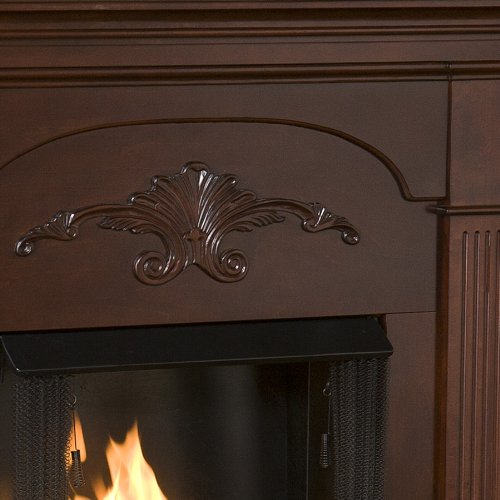 SEI Sicilian Harvest Gel Fuel Fireplace, Mahogany