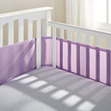 BreathableBaby Mesh Crib Liner, Lavender