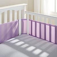 Breathable Mesh Crib liner w/Microfiber Binding-fits all cribs Navy Mist