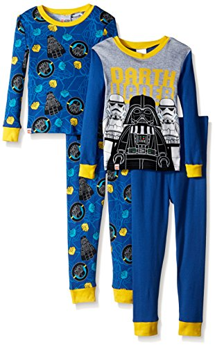 LEGO Star Wars Boys' 4-Pc Pajama 2 Sets, Long Sleeve and Pant