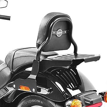 Sissy Bar Css Fix Kompatibel Für Harley Davidson Sport Glide 18 21 Mit Gepäckträger Schwarz Auto