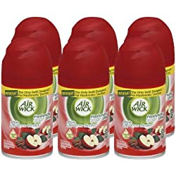 Air Wick Freshmatic Automatic Spray Refill Air Freshener, Apple Cinnamon Medley, 6.17 oz (Case of 6)