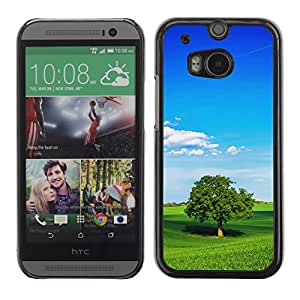 "For HTC One ( M8 ) , S-type Naturaleza Verde Trea"" - Arte & diseño plástico duro Fundas Cover Cubre Hard Case Cover"