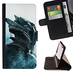 Momo Phone Case / Flip Funda de Cuero Case Cover - Cylon Air Future Technology - Motorola Moto E ( 1st Generation )