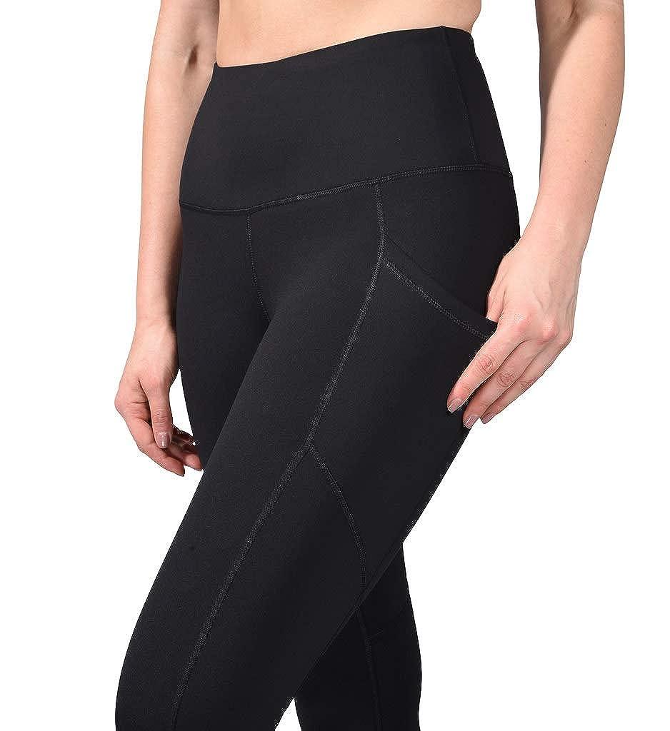 90 Degree By Reflex High Waist Squat Proof Yoga Capri Leggings with Side Phone Pockets