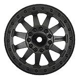 proline 12mm hex tires - ProLine 274403 F-11 2.8 Traxxas Style Bead Black Rear Electric Wheels for Stampede/Rustler