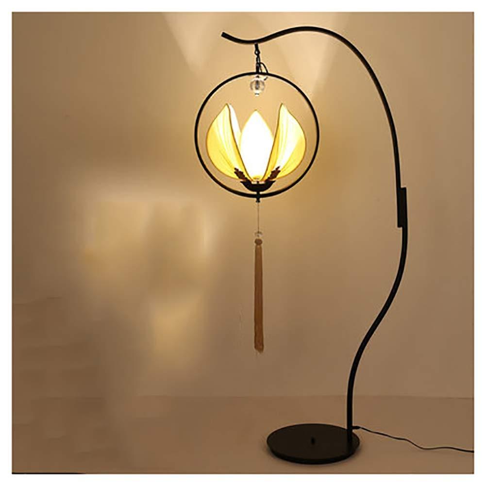 NKDK 横の読書灯が付いている床ランプLEDの居間および寝室の現代縦ライトアジア陳列台 -153 フロアランプ (色 : B)  B B07QCC57Q6
