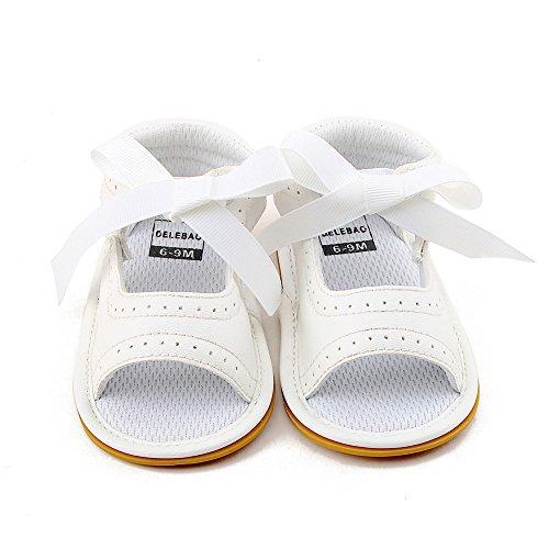 Zapatos de bebé, Switchali Recién nacido bebe niña verano Princesa zapatos Niñas bowknot Suela blanda Antideslizante Zapatillas chica vestir Calzado de deportes Sandalias