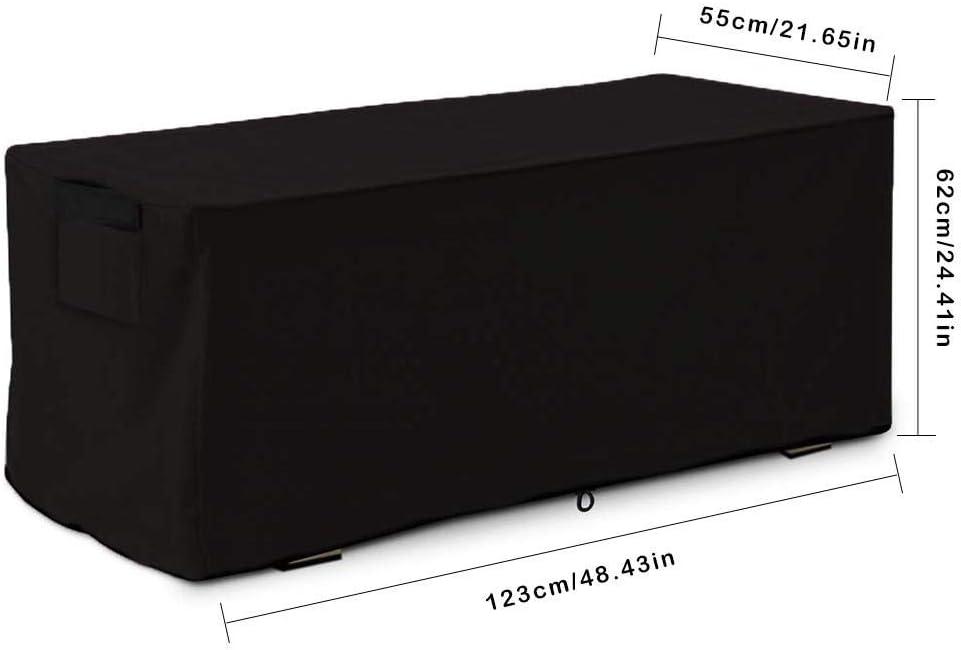 Millster Caja de Almacenamiento Exterior para jardín - Cubierta para Caja de Patio Exterior contenedor de Almacenamiento Cubierta para Cubierta Grande - Cajas de protección