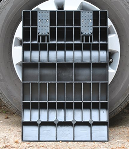 MAXSA 37353 Park Right Tire Saver Ramps for Flat Spot Prevention and Vehicle Storage (Set of 4), Black by Maxsa Innovations (Image #2)