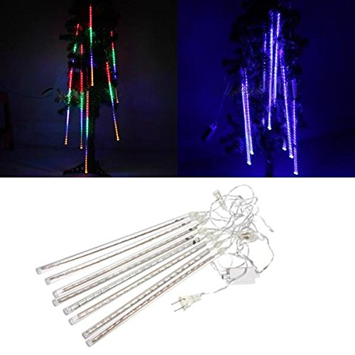 LED Waterproof Meteor Shower Rain Tube Light Snowfall Christmas Lamp Decor Outd ( Blue ) (2)