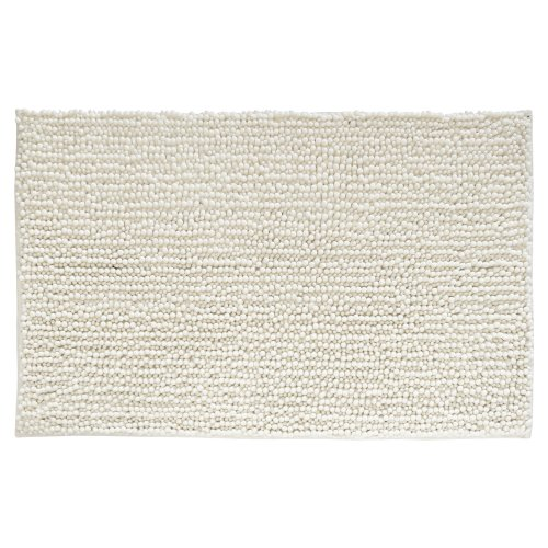 Dynamic Rugs Acrylic Rug - InterDesign Microfiber Frizz Bathroom Shower Accent Rug, 30 x 20, Natural