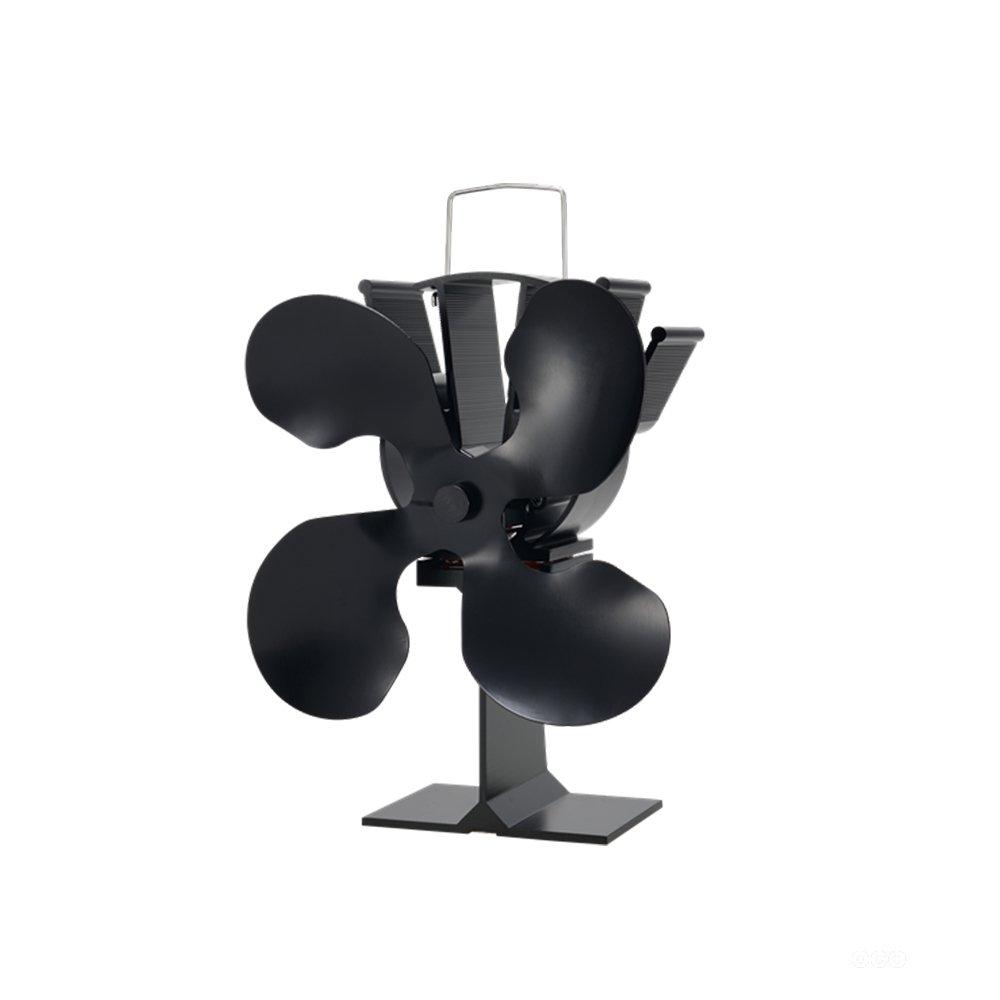 Generic ventilador de estufa Ecofan cuatro hoja de aluminio: Amazon.es: Bricolaje y herramientas