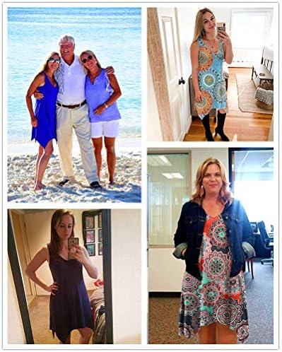 POPYOUNG Women's Swimsuit Cover Ups Summer Swing Casual Beach Dress