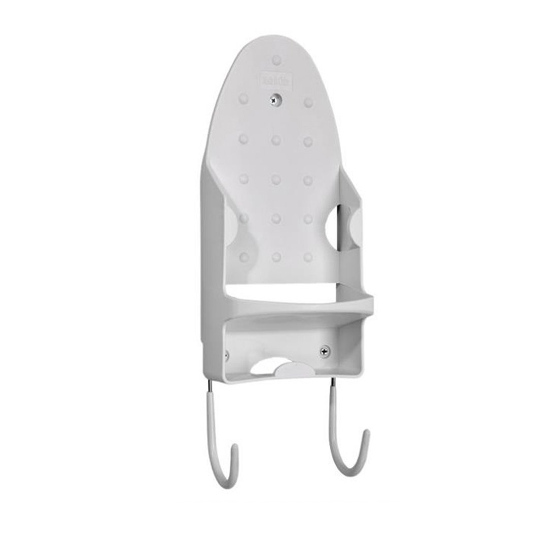 NaroFace Ironing Board Holder with Hook for Hotel Room Supplies (White)