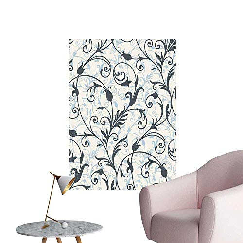 SeptSonne Wall Decals backgroun from a Ornament Fashionable Wallpaper or Textile Environmental Protection Vinyl,24
