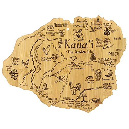 Totally Bamboo Kauai Island Destination Bamboo Serving and Cutting Board