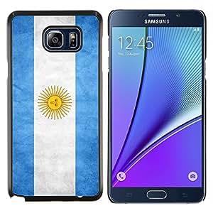 YiPhone /// Prima de resorte delgada de la cubierta del caso de Shell Armor - Nacional bandera de la nación País Argentina - Samsung Galaxy Note 5 5th N9200