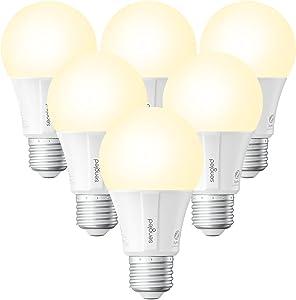 Sengled Alexa Smart Light Bulbs, Smart Bulbs That Work with Alexa, Google Home(Smart Hub Required), 800LM Soft White (2700K), A19 E26 Dimmable Smart Led Bulb, 9W (60W Equivalent), 6 Pack
