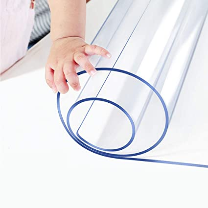 Brilliant Multi Size Clear Table Protector Custom Eco Plastic Tablecloth Desk Cover Non Slip Protective Pads Waterproof 5Ft Long 1 5Mm Thcik 24X60 Rectangle Download Free Architecture Designs Oxytwazosbritishbridgeorg