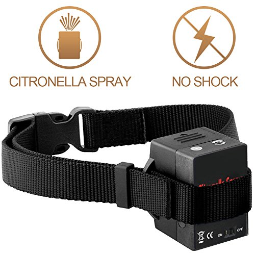 No Bark Citronella Automatic Anti Bark Spray Stop Barking Collar, Safe Dog No Shcok Bark Control Training Collar for Small Medium Large Dogs, excludes Citronella Spray