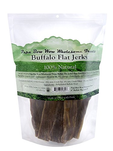 Papa Bow Wow Wholesome Buffalo Jerky Dog Treats, 1 Lb ()